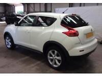 2012 WHITE NISSAN JUKE 1.6 ACENTA PETROL AUTO HATCHBACK CAR FINANCE FR £25 PW