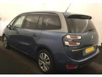 2014 BLUE CITROEN C4 GRAND PICASSO 1.6 E-HDI 115 EXCLUSIVE CAR FINANCE FR £37 PW