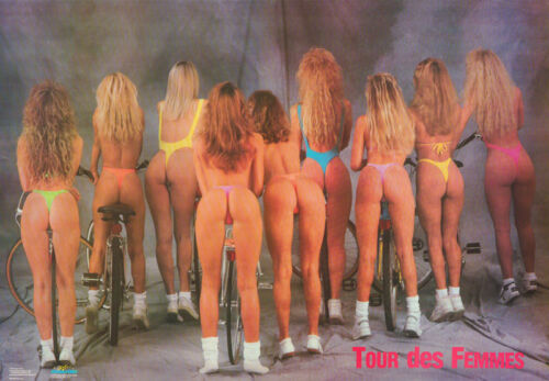 LOT OF 2 POSTERS :TOUR DES FEMMES - SEXY FEMALE MODELS    FREE SHIP #2557 RC30 J