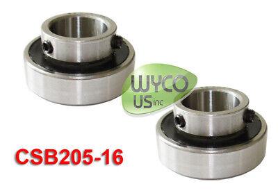 Lot Of 2 Insert Bearings Axle Mounted 1 Id Csb205-16