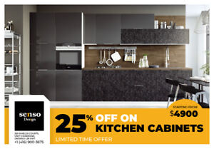 25% Off All Kitchen Cabinets, limited time offer!