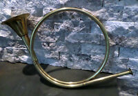 French Hunting Horn Brass Antique Christmas Decoration