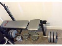 York Bench + Weights