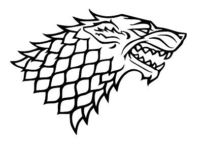 Game of Thrones House Stark vinyl car Decal / Sticker