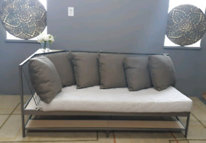 Ikea Modern Couch with underneath shelve/delivery available