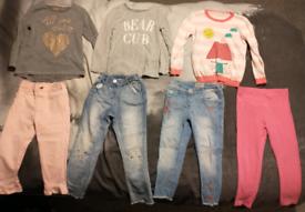 Bundle of girl's clothing, size 4-5 years.