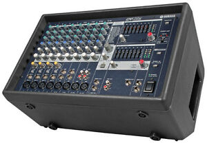 Yamaha EMX512 Powered PA Mixer and 15in Speakers and Stands