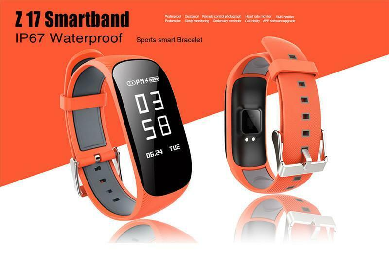 ORANGE Smart Z17 HR Smart Watch Heart Rate Sports Fitness Sleep Tracker Cell Phones & Accessories