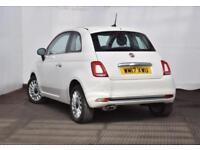 2017 Fiat 500 1.2 Lounge (s/s) 3dr Petrol white Manual