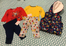 Set of girls 3-6 months clothes New & used