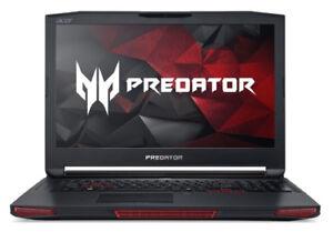 PREDATOR 17'' i7,3.6GHZ 32GB , 256GB SSD,1 TB, NVIDIA GTX 980M