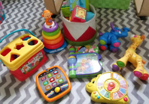 Baby infant toys, educational, interactive, learning (lot)