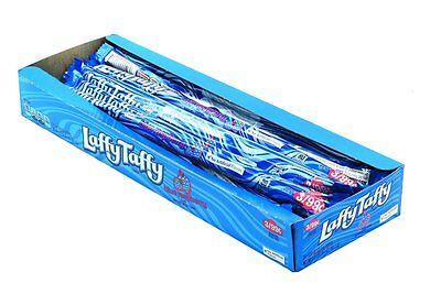 Wonka Laffy Taffy Rope Blue Raspberry 3/99C 0.81 Oz Each ( 24 In A Pack ) (Blue Laffy Taffy)
