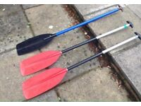 3 Canoe paddles