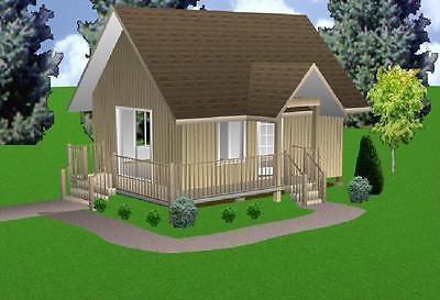 16x22 Cabin w/Loft Plans Package, Blueprints, Material List for sale  Collettsville