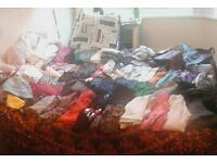 EXTRA LARGE Clothes Bundle 90+ITEMS (size 8 - 10 boots shoes footwear size 5)