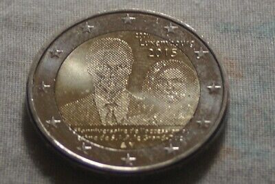 2 EURO COMMEMO LUXEMBOURG 2015 COUPLE PRINCIER