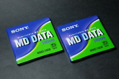 2-pcs SONY Mini Disc for Data MMD-140B Rewritable MiniDisc 140MB