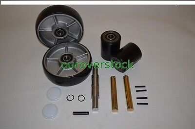 Crown Pth50 Pallet Jack Complete Wheel Kit Includes All Parts Shown
