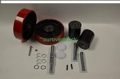 Dayton 4yx97 Pallet Jack Complete Wheel Kit