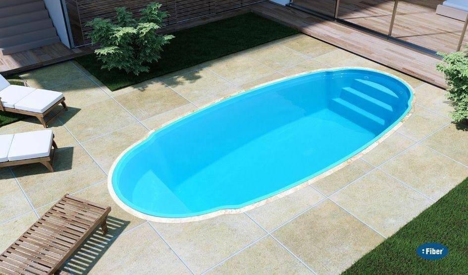 Fiberglass Inground  pool shell New Italy 5