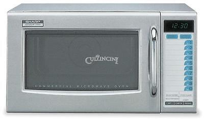 Sharp 1000 Watt Commercial Microwave Nsf Medium Duty 120 Volt Model R-21ltf