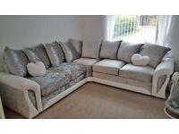 Sofa On Sale Brand New Shannon Crush Velvet Corner Couch & 3+2 Seater In Stock Order Now..