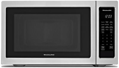 KitchenAid Stainless Steel LED Display 1.6 cu.ft Countertop Microwave
