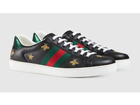 Gucci Black and white Bees and Stars Low Top Sneakers