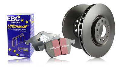 EBC Front & Rear Brake Discs & Ultimax Pads Seat Alhambra 1.8 Turbo (98 > 00)