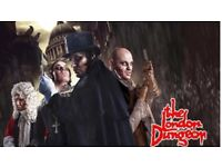 London dungeons £10 for two tickets, 20th august