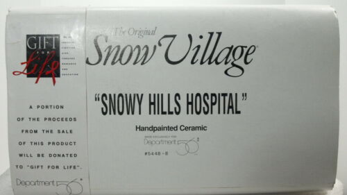 "DEPT 56 SNOW VILLAGE SERIES ""SNOWY HILLS HOSPITAL"" BRAND NEW"