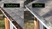Eavestrough cleaning and gutter guard installation