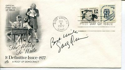 Sally Quinn Washington Post Journalist Religious Author Signed Autograph Fdc
