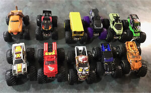 11 HOT WHEEL MONSTER TRUCKS LIKE NEW Plumpton Blacktown Area Preview
