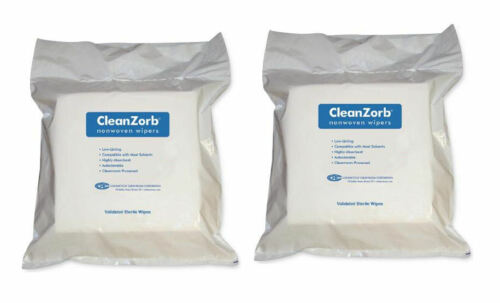 2 Pkgs CleanZorb Sterlie Cleanroom Autoclavable Nonwoven Wipers 9x9