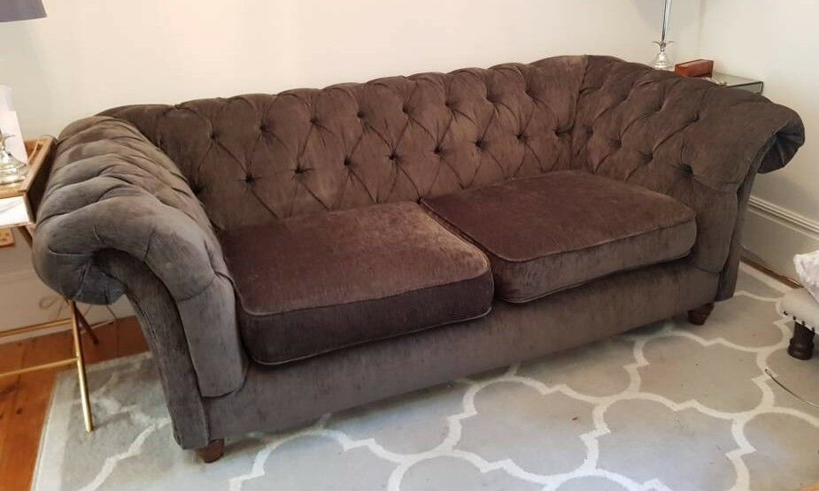 Grey Chesterfield Sofa In Hove East Sussex Gumtree