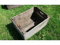 Old wooden bushel boxes