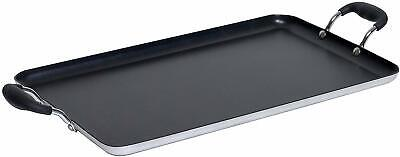 Double Burner Non-stick Griddle Comal Healthy Cooking Handle Home 20 X 12 Inch