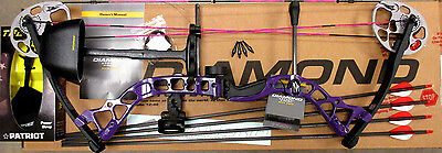 Diamond Bowtech PRISM Bow RH Infinite Edge PURPLE Package W/QUIVER & EXTRAS