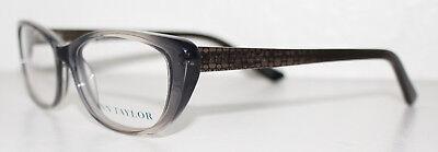 ANN TAYLOR AT308 C01 BLACK FADE Cats Eye Optical Eyeglass Frame For Women