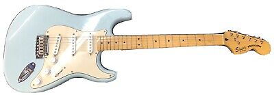 Squier Deluxe Stratocaster Electric Guitar Daphne Blue Strat by Fender