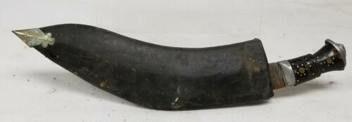 Antique South East Asian Persian Style Curved Dagger Sword Scabbard