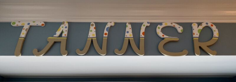 HAND PAINTED WOODEN LETTERS FOR BOYS ROOM: TANNER