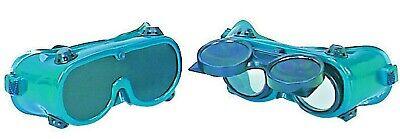Oxygen Acetylene Welding Goggles Set 2 Pairs W Permanent Flip Up Dark 10 Lens