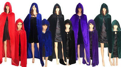 US SHIP Christmas Costume Vampire Witchcraft Gothic Hooded Cloak Wicca Robe](Vampire Robes)