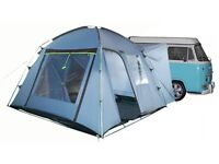 Khyam Driveaway Compact 300 awning and Khyam Camper Baffle