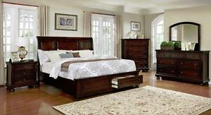 6 PC QUEEN SIZE SOLID WOOD BEDROOM SET $ 1898