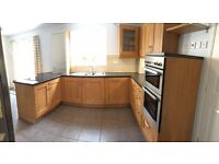 Oak effect kitchen units and appliances for sale