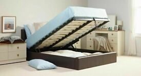 🔥🔥SHORT-TERM PRICE DROP🔥🔥BRAND NEW DOUBLE OTTOMAN STORAGE GAS LIFT UP BED FRAME BLACK BROWN